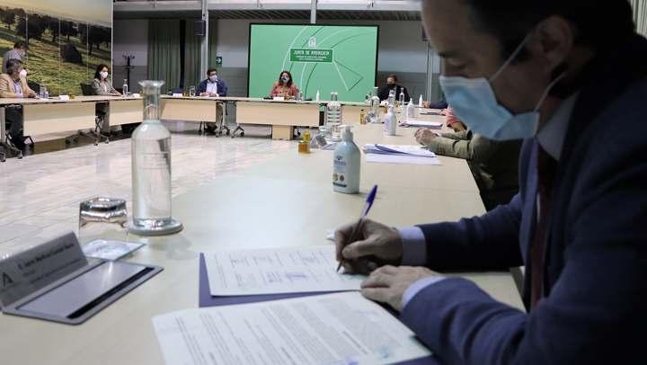 Junta, ayuntamientos y arroceros implantan un modelo sostenible para la gestión de pasto