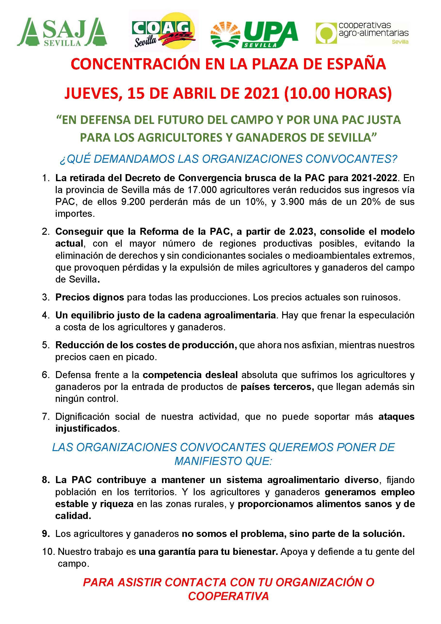 Diario de Sevilla: Tractorada este jueves en Sevilla contra la PAC: del Villamarín a la Plaza de España